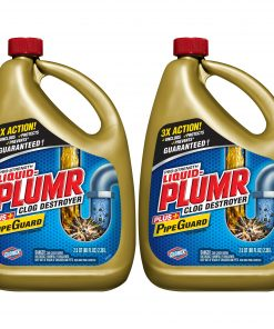 Liquid-Plumr Pro-Strength Full Clog Destroyer Plus PipeGuard, 160 Ounces