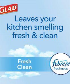 Glad Tall Kitchen Trash Bags, 13 Gallon, 80 Bags (ForceFlexPlus, Fresh Clean)