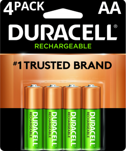 Duracell 1.2V Rechargeable NiMH AA Batteries 4 Pack