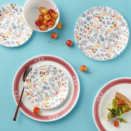 Corelle Signature Prairie Garden Red 16-pc Dinnerware Set
