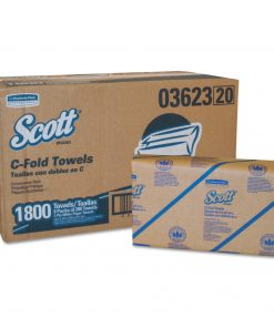 Scott C-Fold Paper Towels, Convenience Pack, 10 1/8 x 13 3/20, White, 200/Pack