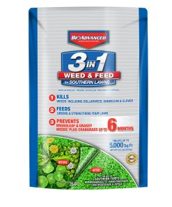BioAdvanced 3-in-1 Weed & Feed for Southern Lawns 5M, Granules, 12.5-Pounds