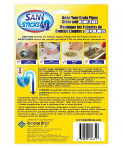 Lemon Fresh Sani Sticks Drain Cleaner and Deodorizer, 24 Count As Seen on TV