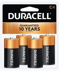 Duracell Coppertop C Alkaline Battery, 4 Pack