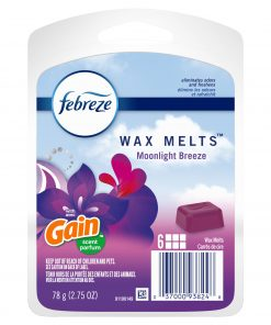 Febreze Wax Melts Odor-Eliminating Air Freshener, Gain Moonlight Breeze, 6 ct