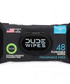 DUDE Wipes Flushable Wipes, Unscented, 1 pack of 48 wipes