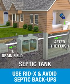 RID-X Septic Treatment Drain Opener, 6 Month Supply of Liquid, 48oz