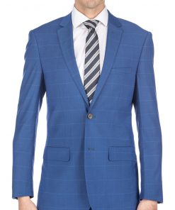Gino Vitale Men's Traveler Check Slim Fit Suits