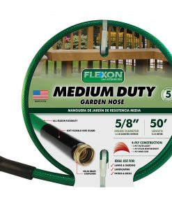 Flexon Medium-Duty 5/8″ x 50′ Garden Hose