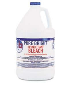 Pure Bright Germicidal Bleach, 1 Gallon Liquid, KIK BLEACH6 – Case of 6