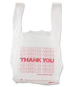 Thank You High-Density Shopping Bags, 8″ x 16″, White, 2,000/Carton