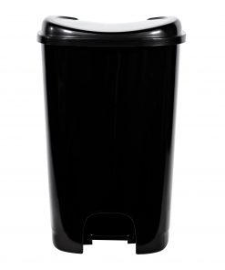 13-gallon Hefty StepOn Trash Can, High Polish Black