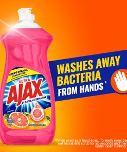 Ajax Ultra Bleach Alternative Liquid Dish Soap, Grapefruit – 52 fluid ounce