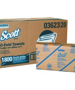 Scott C-Fold Paper Towels, Convenience Pack, 10 1/8 x 13 3/20, White, 200/Pack