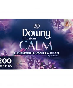 Downy Infusions Dryer Sheets, Calm, Lavender & Vanilla Bean, 200 Count