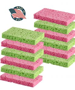 Cleaning Scrub sponge by Scrub-it -Assorted Colors – Non-Scratch -12 pack