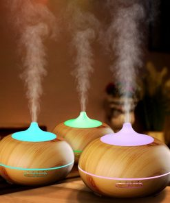 Tagital 300ml Aroma Essential Oil Diffuser, Wood Grain Ultrasonic Cool Mist Humidifier for Office Home Bedroom Living Room Study Yoga Spa