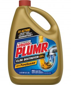 Liquid-Plumr Pro-Strength Full Clog Destroyer Plus PipeGuard, 80 Ounces