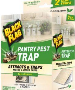 6 Pack Black Flag Pantry Pest Trap for Moths & Pests 2 Glue Traps Each(12 Total)