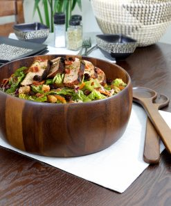 Gibson Elite 3-Piece Salad Bowl With Servers Set, Wood