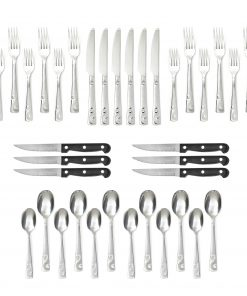 Cambridge Sandscript Frost Flatware Set, 36 Piece