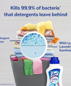 Lysol Laundry Sanitizer, Crisp Linen, 90 oz, Eliminates Odors and Kills Bacteria