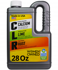 CLR Calcium Lime & Rust Remover, Household Cleaner, 28 Oz Bottle