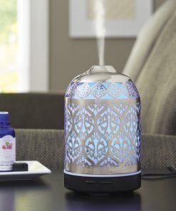 Better Homes & Gardens 100 mL Ultrasonic Aroma Diffuser, Delicate Filigree