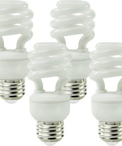 14 Watt, T2 CFL, 60W Equal, 2700K Warm White, 900 Lumens, 82 CRI, 4 Pack