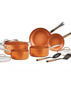 Copper Chef 10 Piece Nonstick Pan Set, with CeramiTech