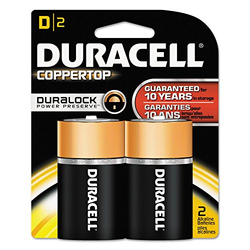3 Pack – Duracell Coppertop D Alkaline Batteries 2 Each