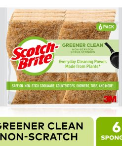 Scotch-Brite Greener Clean Non-Scratch Scrub Sponge, 6 Count