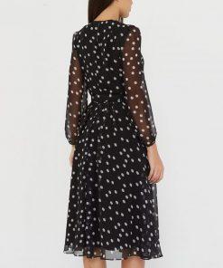 Vintage Dot Printing Women Chiffon Dress 2020 Summer Autumn Casual Dress Boho Beach Women A-line Vestidos