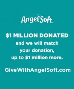 Angel Soft Toilet Paper, Linen, 36 Mega Rolls (= 144 Regular Rolls)