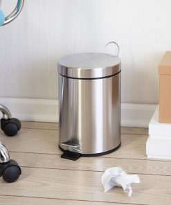 Honey Can Do TRS-01449 5 Liter Stainless Steel Step Lift Lid Garbage Can