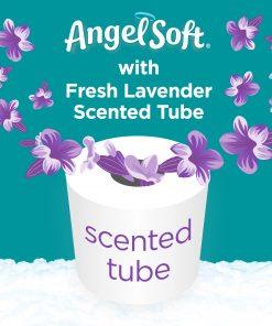 Angel Soft Toilet Paper, Lavender, 36 Mega Rolls