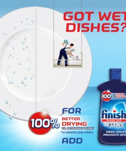 Finish Jet-Dry Rinse Aid 23oz, Dishwasher Rinse Agent and Drying Agent