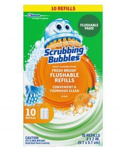 Scrubbing Bubbles Fresh Brush Flushables Refill, Citrus Action Scent, 10 ct