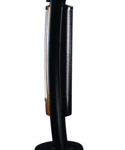 Lasko 42″ Wind Curve 3-Speed Oscillating Tower Fan with Fresh Air Ionizer and Remote Control, Model T42950, Black/Woodgrain