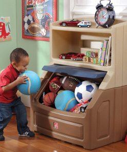 Step2 Lift & Hide 38″H Bookcase Kids Storage Bin and Toy Organizer
