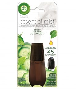 Air Wick Essential Mist Refill, 1Ct, Fresh Cucumber, Essential Oils Diffuser, Air Freshener