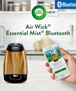Air Wick Essential Mist Bluetooth Connected Diffuser (Starter Kit + Refill), Essential Oils Diffuser, Aroma Happiness, Aromatherapy, Air Freshener