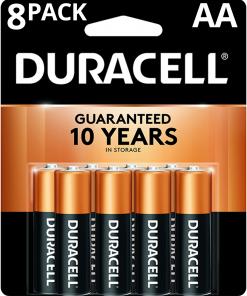 Duracell 1.5V Coppertop Alkaline AA Batteries 8 Pack