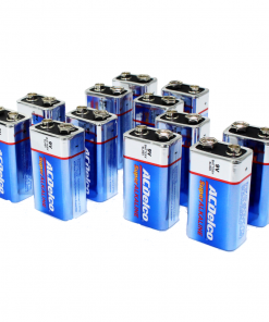 ACDelco 9V Batteries, Super Alkaline 9-Volt Battery, 12-Count