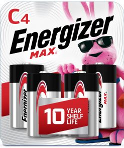 Energizer MAX C Batteries, Alkaline C Cell Batteries (4 Pack)