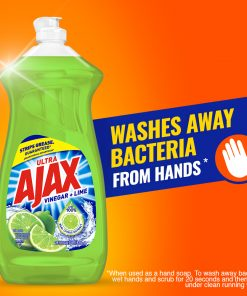 Ajax Ultra Liquid Dish Soap, Vinegar + Lime – 28 fluid ounce