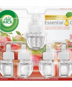 Air Wick Plug in Refill, 5ct, Apple Cinnamon Medley, Scented Oil, Air Freshener