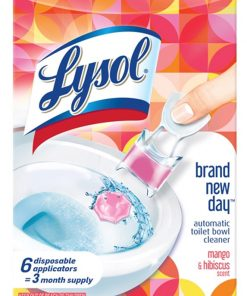 Lysol Click Gel Automatic Toilet Bowl Cleaner 6ct, Brand New Day Mango & Hibiscus