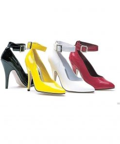 Ellie Shoes E-8221 5 Heel Pump With Ankle Strap 13 / Red