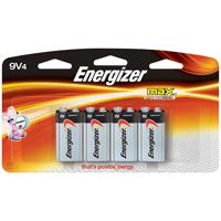 Energizer 522BP-4H Alkaline Battery, 9 V Battery, Zinc, Manganese Dioxide, 9 V Battery